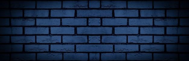 Blauwe bakstenen muur, close-up, achtergrondafbeelding
