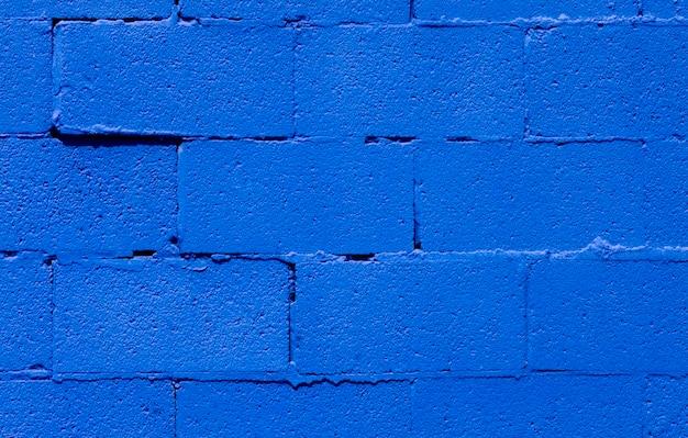 Blauwe bakstenen muur, close-up
