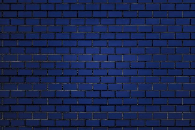Blauwe bakstenen muurachtergrond