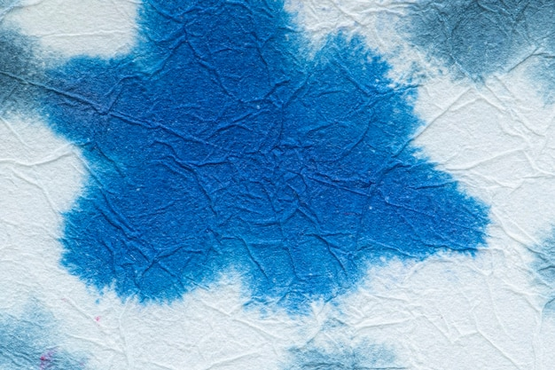 Blauwe bloemenpatroon getextureerde achtergrond