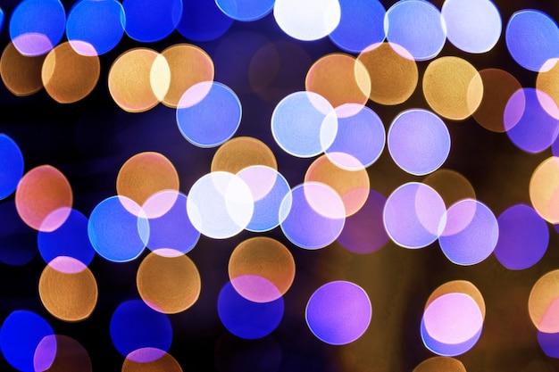Blauwe bokeh licht patroon achtergrond