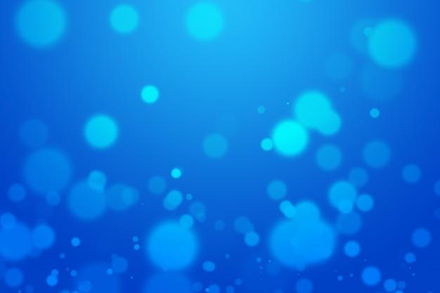 Blauwe bokeh mooie vage heldere lichte abstracte achtergrond.