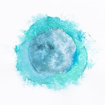 Blauwe bolvormige aquarel vorm