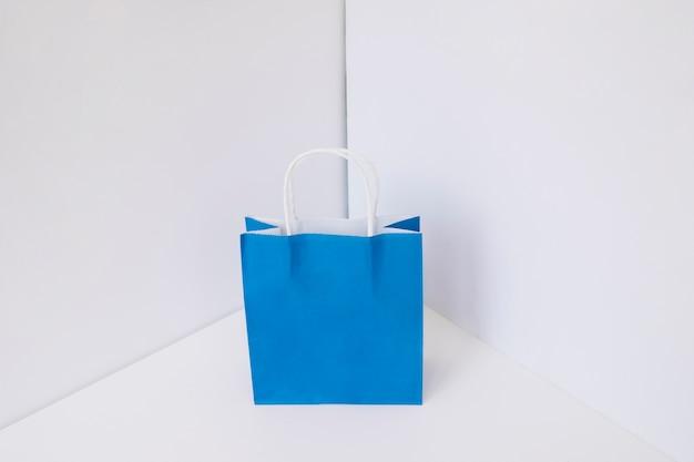 Blauwe boodschappentas