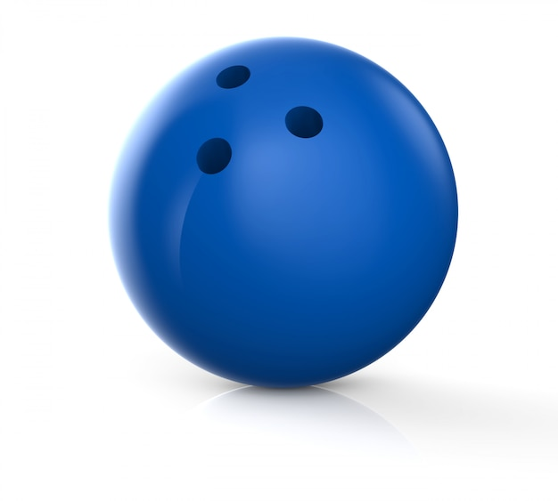 Blauwe bowlingbal