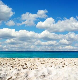 Blauwe caribische zee strand