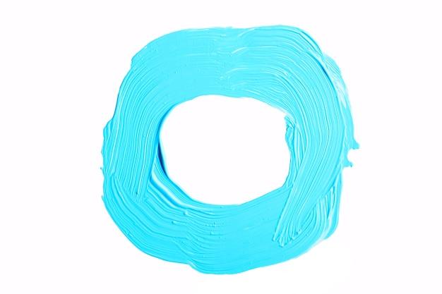 Blauwe cirkel ronde penseelstreek