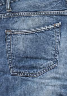 Blauwe denim broek zak textuur achtergrond