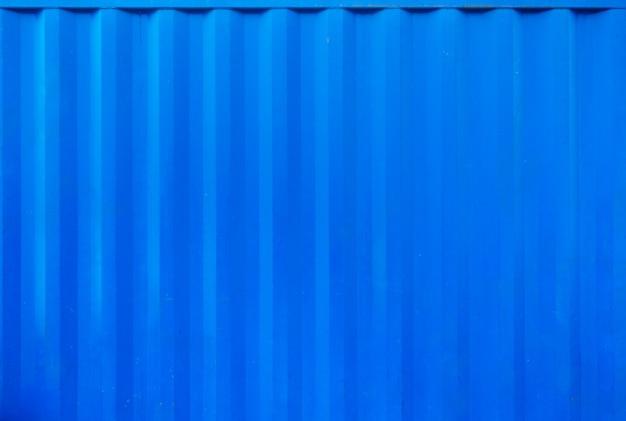 Blauwe dichte omhooggaand van de containentextuur