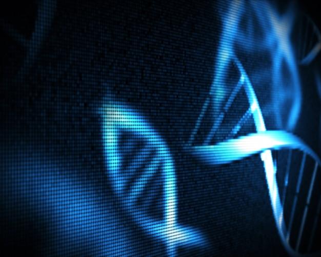 Blauwe dna-helix