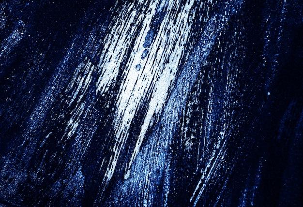 Blauwe donkere en witte de textuur abstracte achtergrond van de borstelslag.