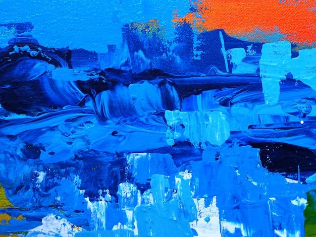 Blauwe donkere het schilderen textuur abstracte achtergrond.