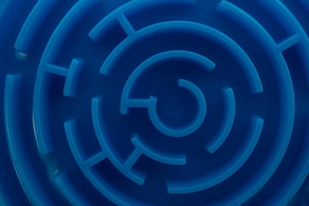 Blauwe doolhof gebruiken als zakelijk probleemoplossend concept.