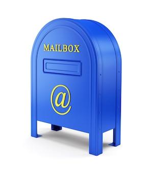 Blauwe e-mailpostbox