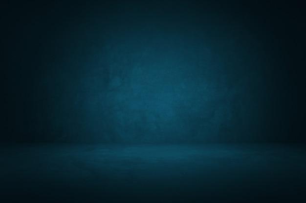 Blauwe en donkere gradiëntstudio en binnenlandse achtergrond om product voor te stellen