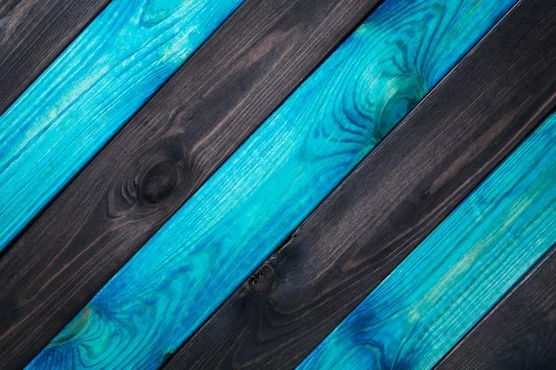Blauwe en donkere houtstructuur