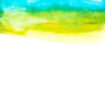Blauwe en gele aquarel tekenen op papier
