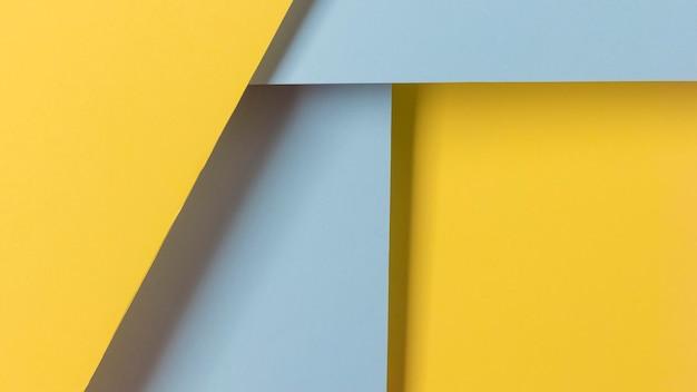 Blauwe en gele kasten