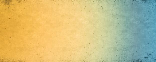 Blauwe en gele kleurovergang, heldere kleurrijke achtergrond textuur