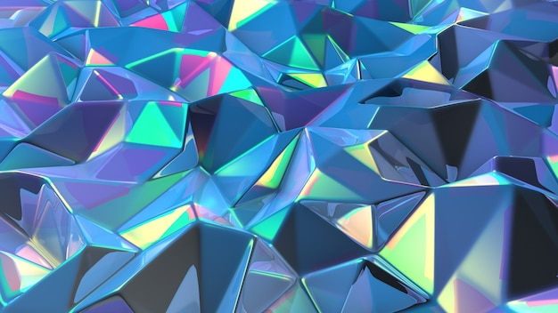 Blauwe en paarse achtergrond met kristallen
