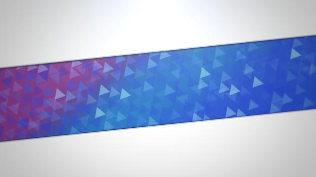 Blauwe en paarse driehoeken, abstracte achtergrond. elegante en luxe dynamische geometrische stijl voor zaken, 3d illustratie