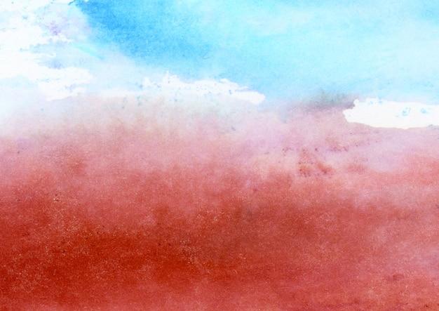 Blauwe en rode aquarel textuur