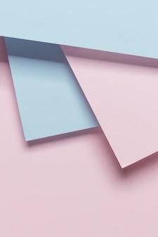 Blauwe en roze geomtrische kasten