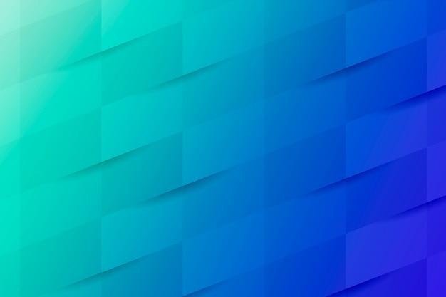 Blauwe en turquoise geometrische patroonachtergrond