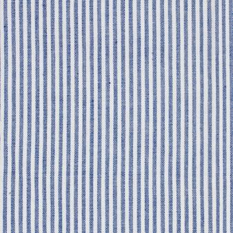 Blauwe en witte strepen stof tafelkleed textuur