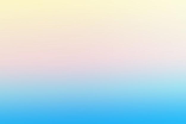 Blauwe en zachte gele abstracte achtergrond met kleurovergangsmalplaatjes