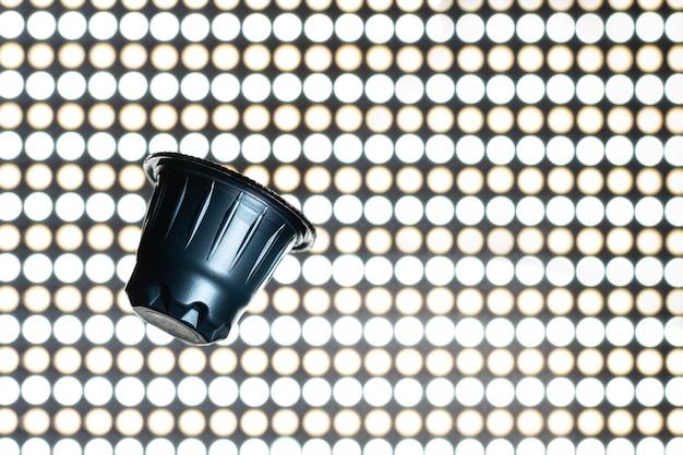Blauwe espressocapsule, koffiepads