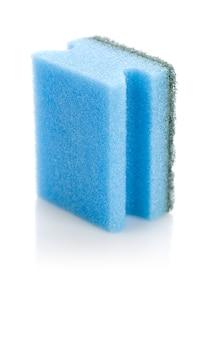 Blauwe geïsoleerde spons