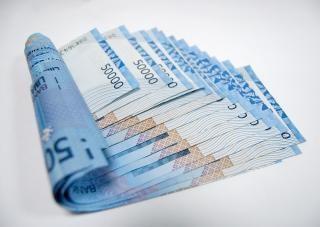 Blauwe geld, nota