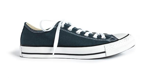 Blauwe generieke geïsoleerde tennisschoen
