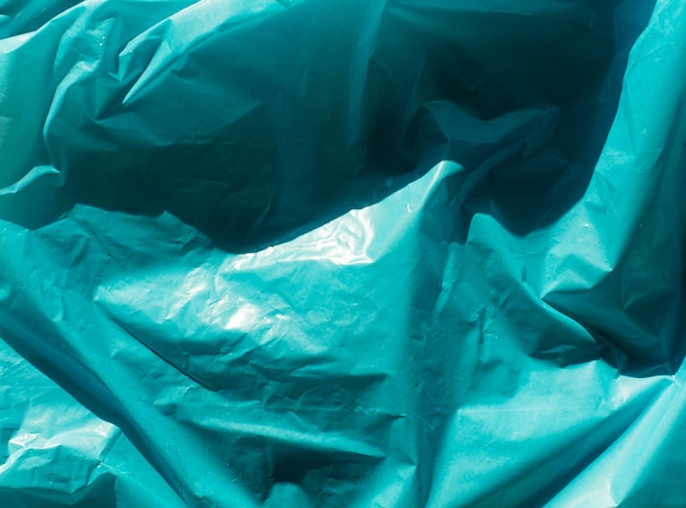 Blauwe gerimpelde plastic textuur
