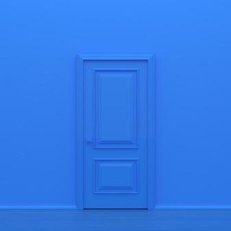 Blauwe gesloten deur