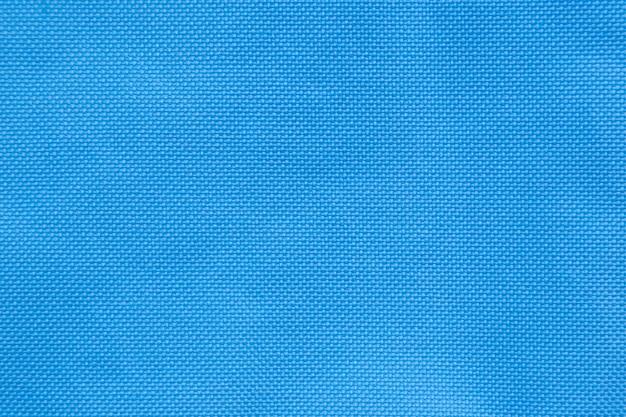 Blauwe geweven nylon stof patroon achtergrond voor ontwerp