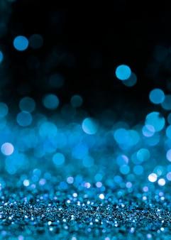Blauwe glinsterende glitter