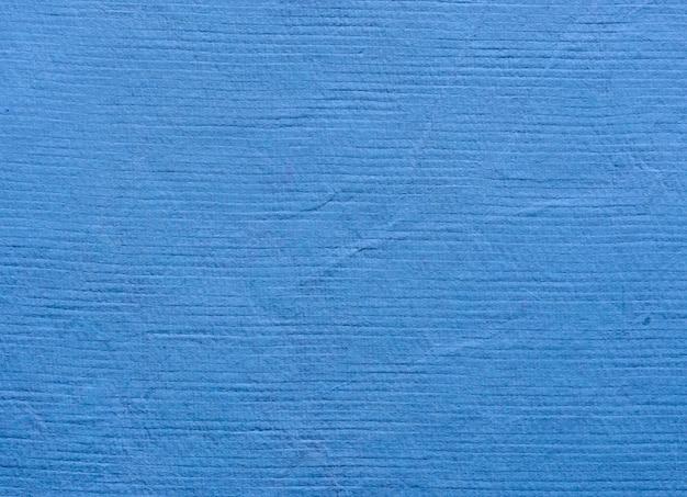 Blauwe handgeschept papier patroon textuur achtergrond