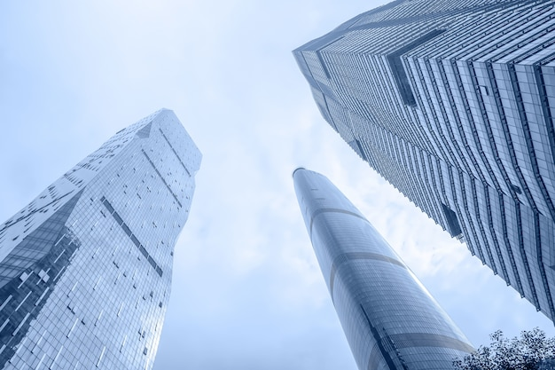 Blauwe hemel uitzicht staatsreizen china