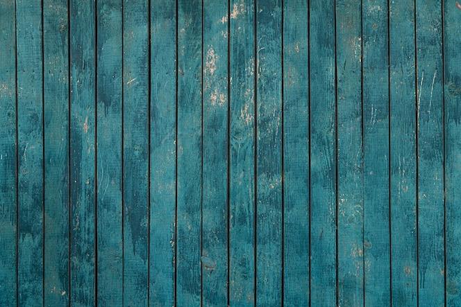 Blauwe houten hek textuur