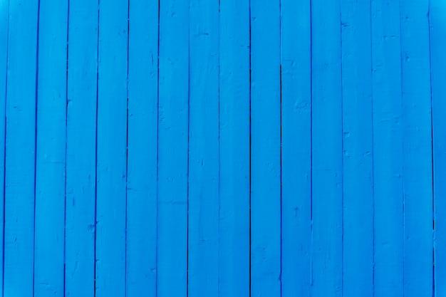 Blauwe houten muur