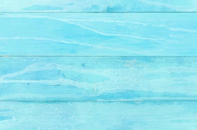 Blauwe houten tafel achtergrond