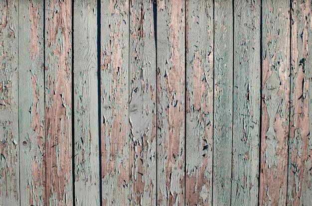 Blauwe houtstructuur achtergrond bovenaanzicht afbladderende verf