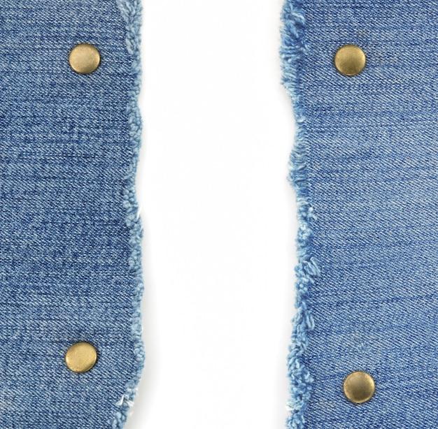 Blauwe jean op wit