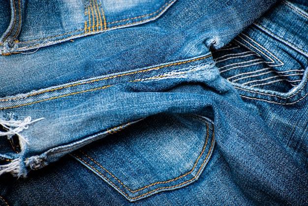 Blauwe jean textuur plant