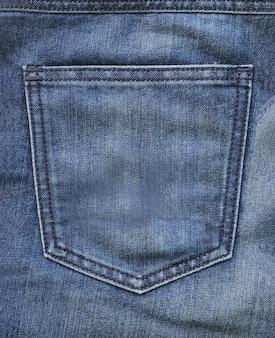 Blauwe jeans achterzak