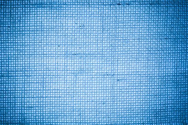 Blauwe jute stof textuur achtergrond