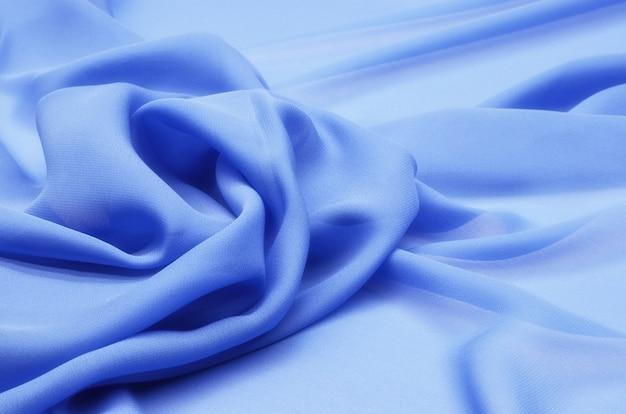 Blauwe katoenen stof