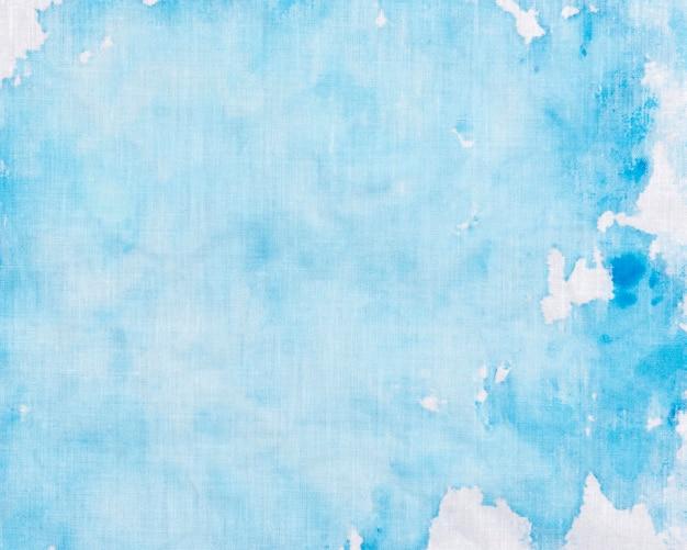 Blauwe kleurvlek schilderen